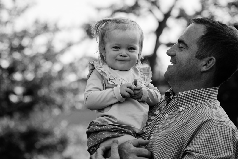 Portrait of Father with Toddler Girl